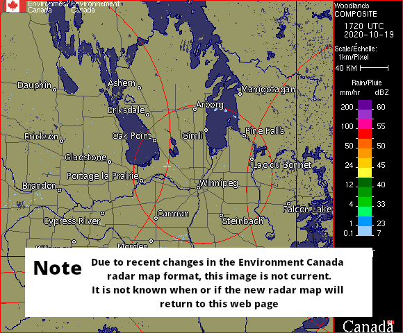 Weather Radar - Woodlands, MB - Environment Canada